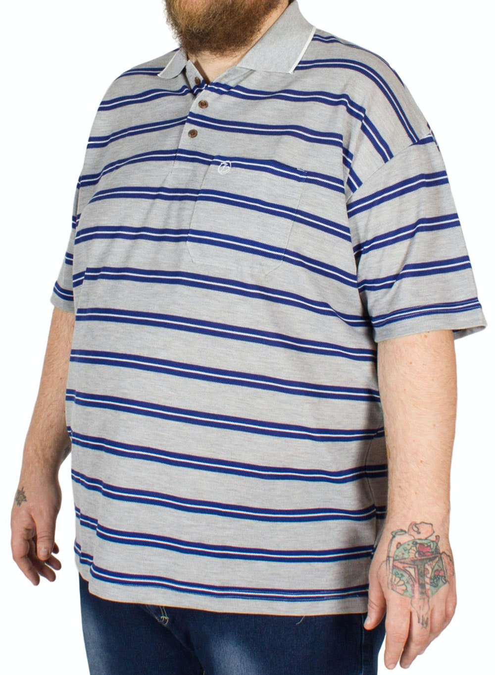 Brooklyn James Stripe Polo Shirt Royal Blue