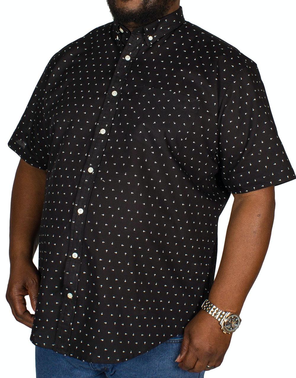 Bigdude All Over Arrow Print Shirt Black