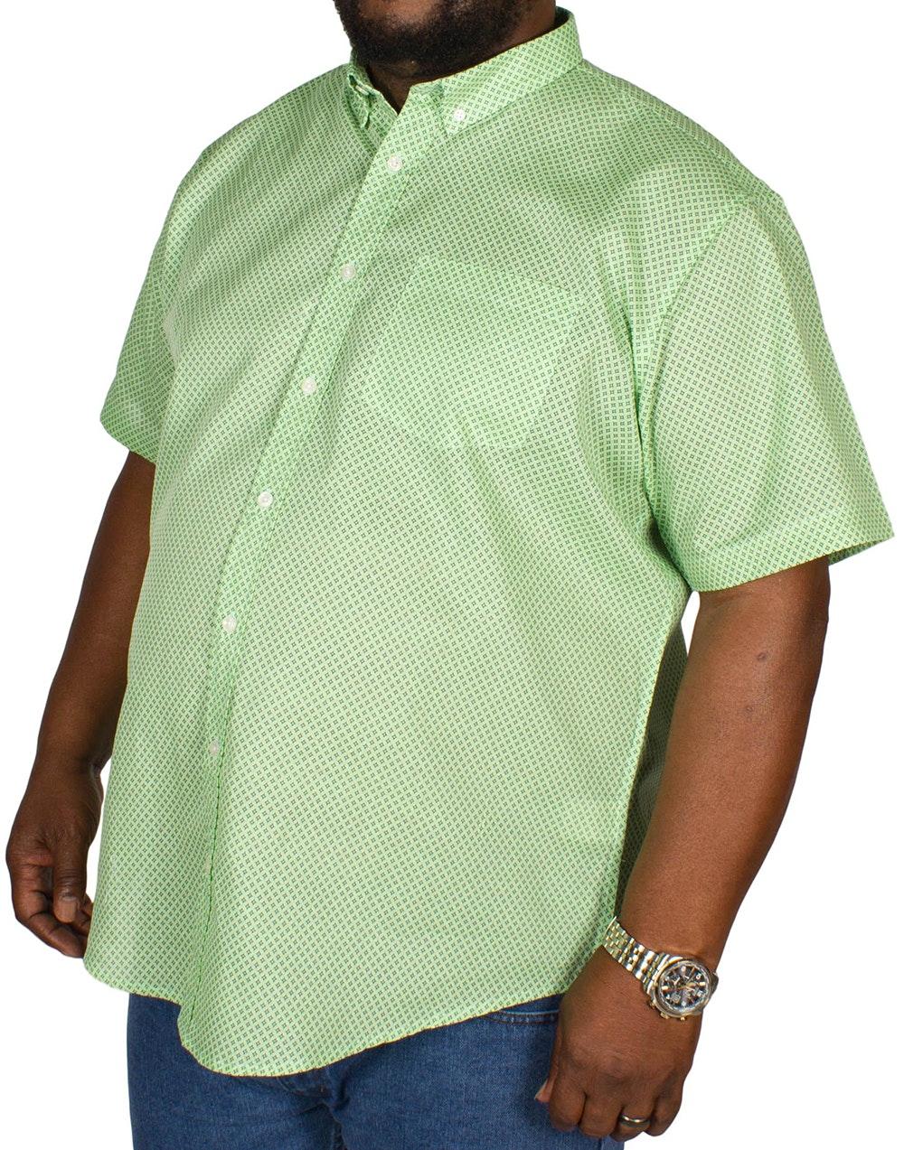 Bigdude All Over Geometric Print Shirt Green