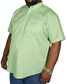 Bigdude All Over Geometric Print Shirt Green