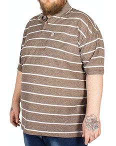 Brooklyn Gabriel Stripe Polo Shirt Brown