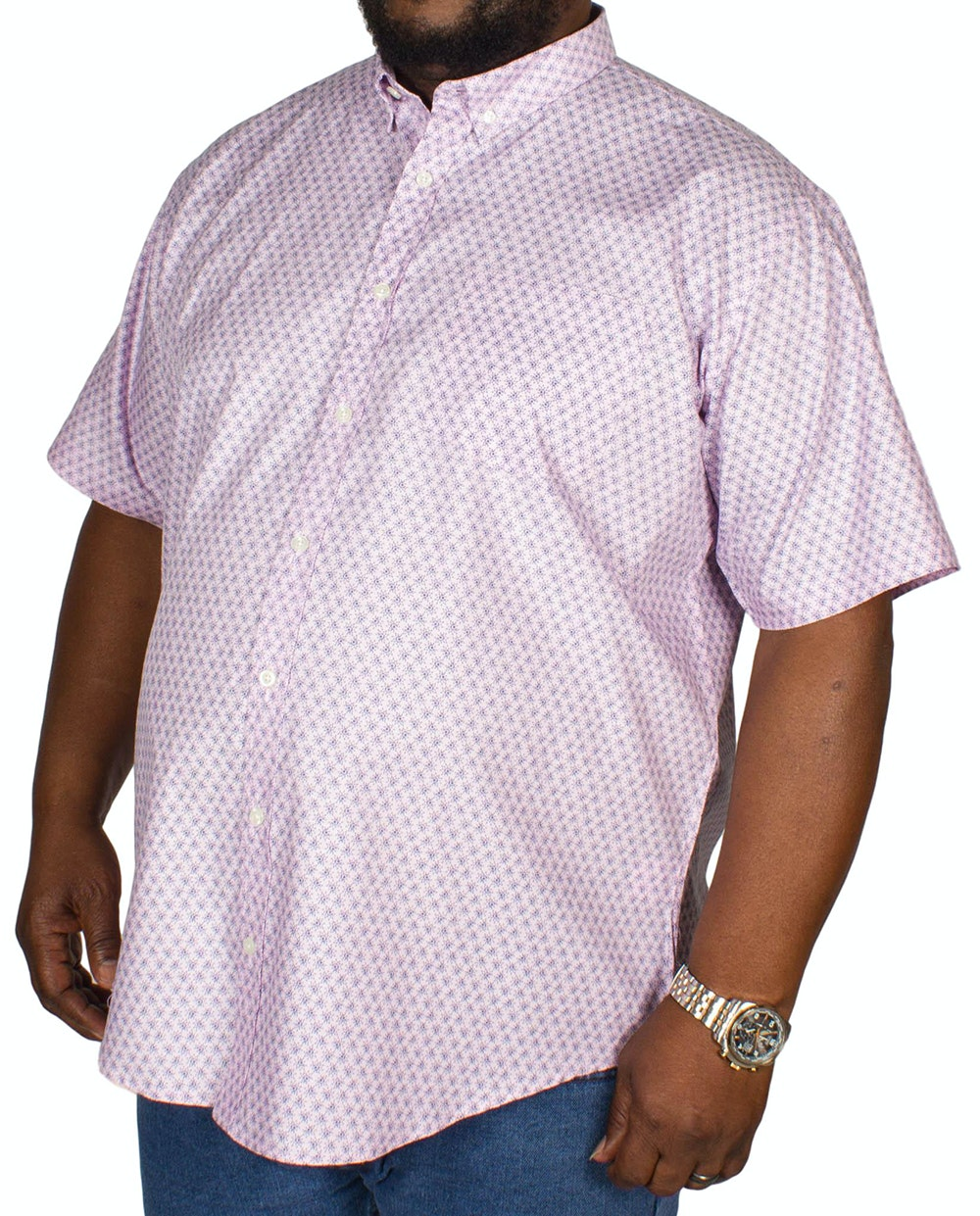 Bigdude All Over Print Shirt Pink