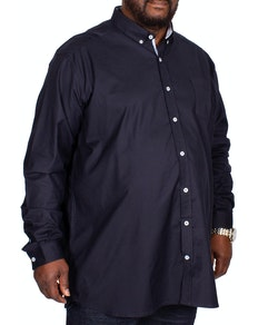 D555 Nebraska Stretch Long Sleeve Shirt Navy