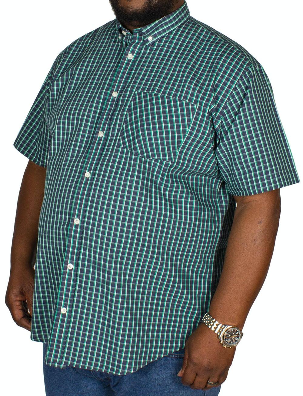 Bigdude Modern Check Shirt Navy/Green