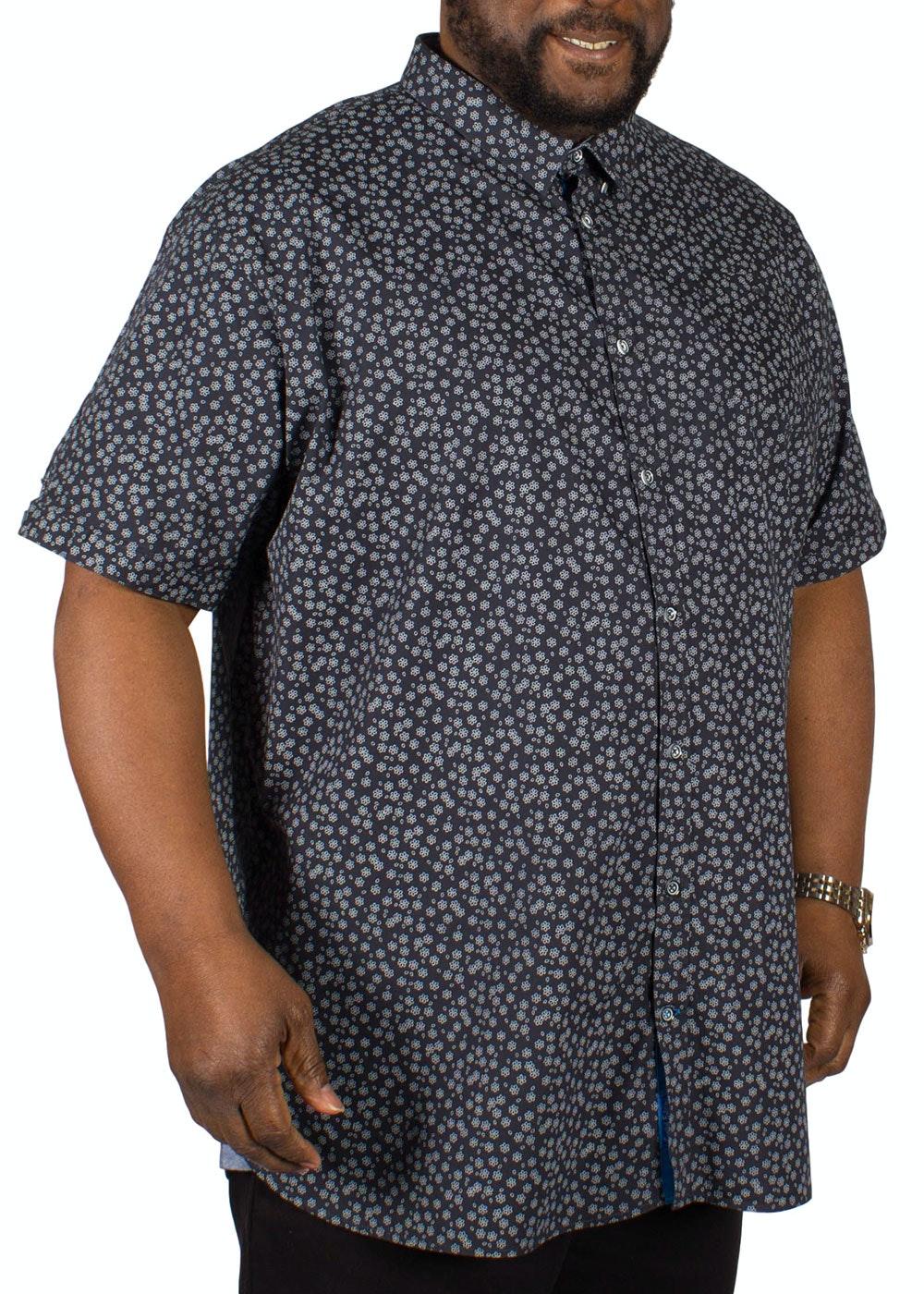 D555 Heath Floral Print Short Sleeve Shirt