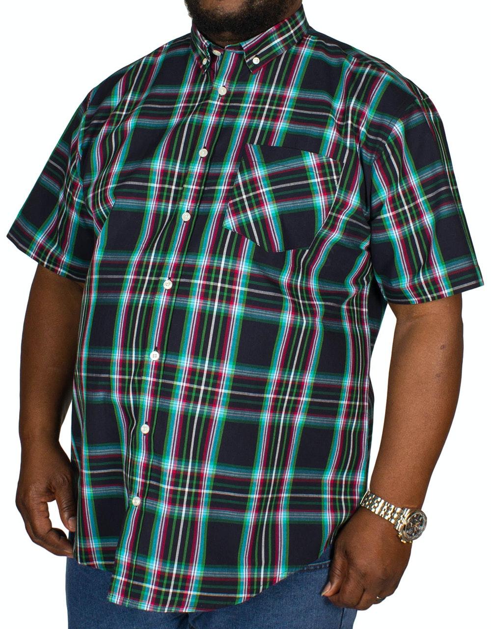 Bigdude Multi Check Shirt Navy