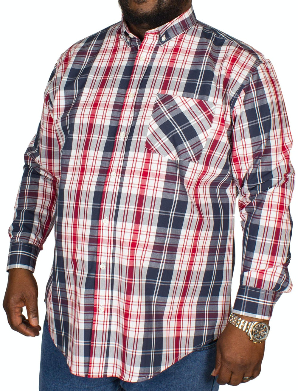 Bigdude Modern Check Shirt Navy