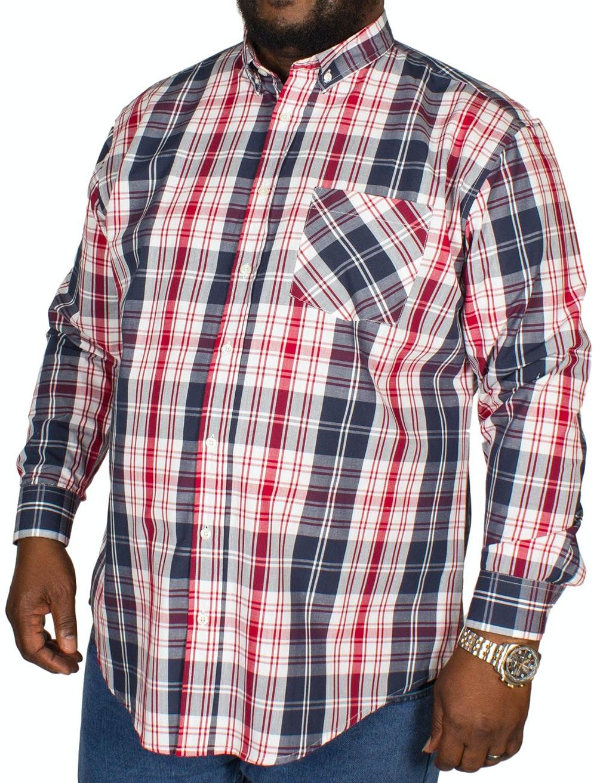 Bigdude Modern Check Shirt Navy