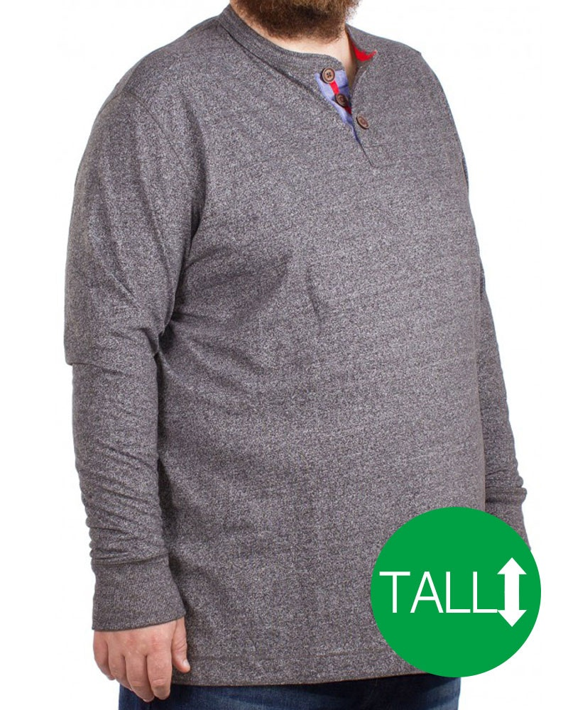 D555 Davy Long Sleeved T-Shirt Grey - Tall