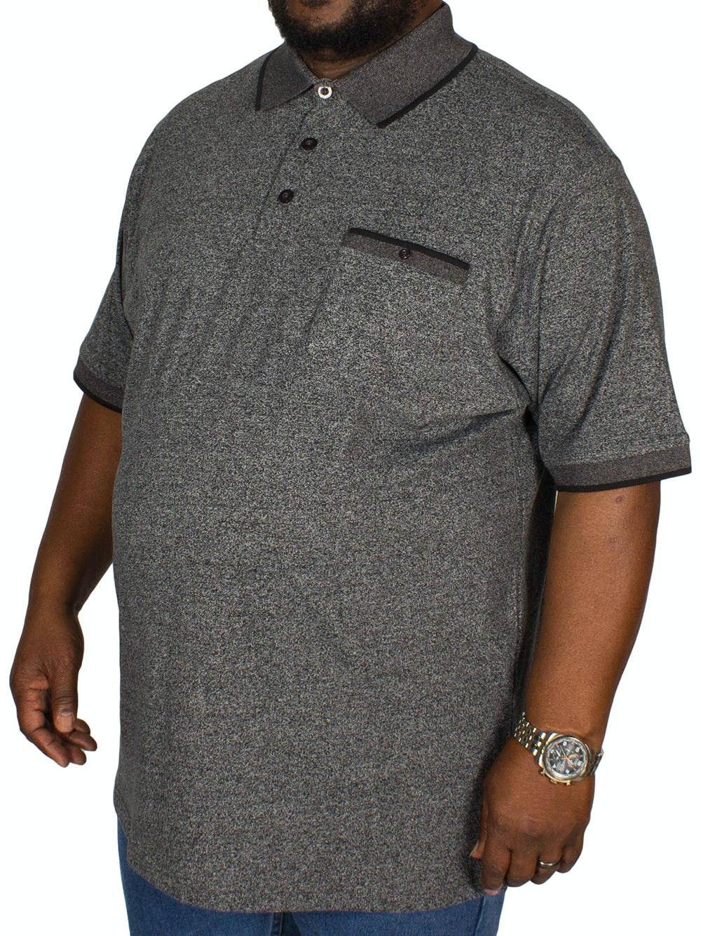 Espionage Jersey Marl Polo Shirt Charcoal