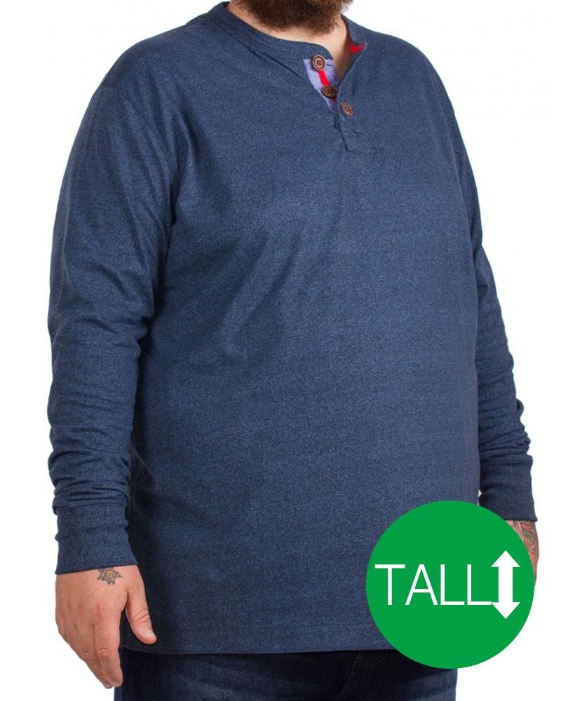 D555 Davy Long Sleeved T-Shirt Navy - Tall