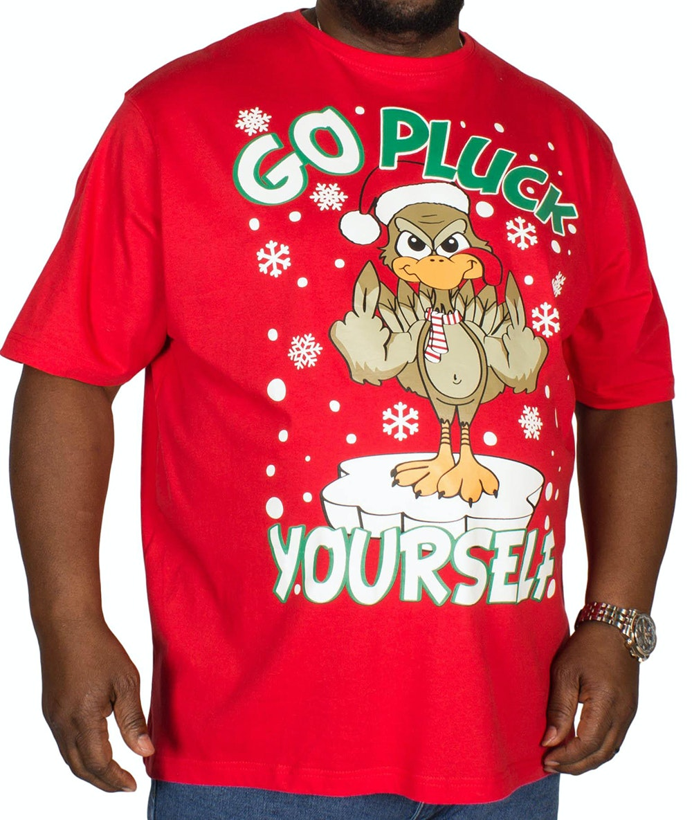 Pierre Roche Pluck Christmas Print T-shirt Red