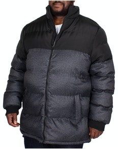 D555 Ashby Heavy Padded Jacket Black