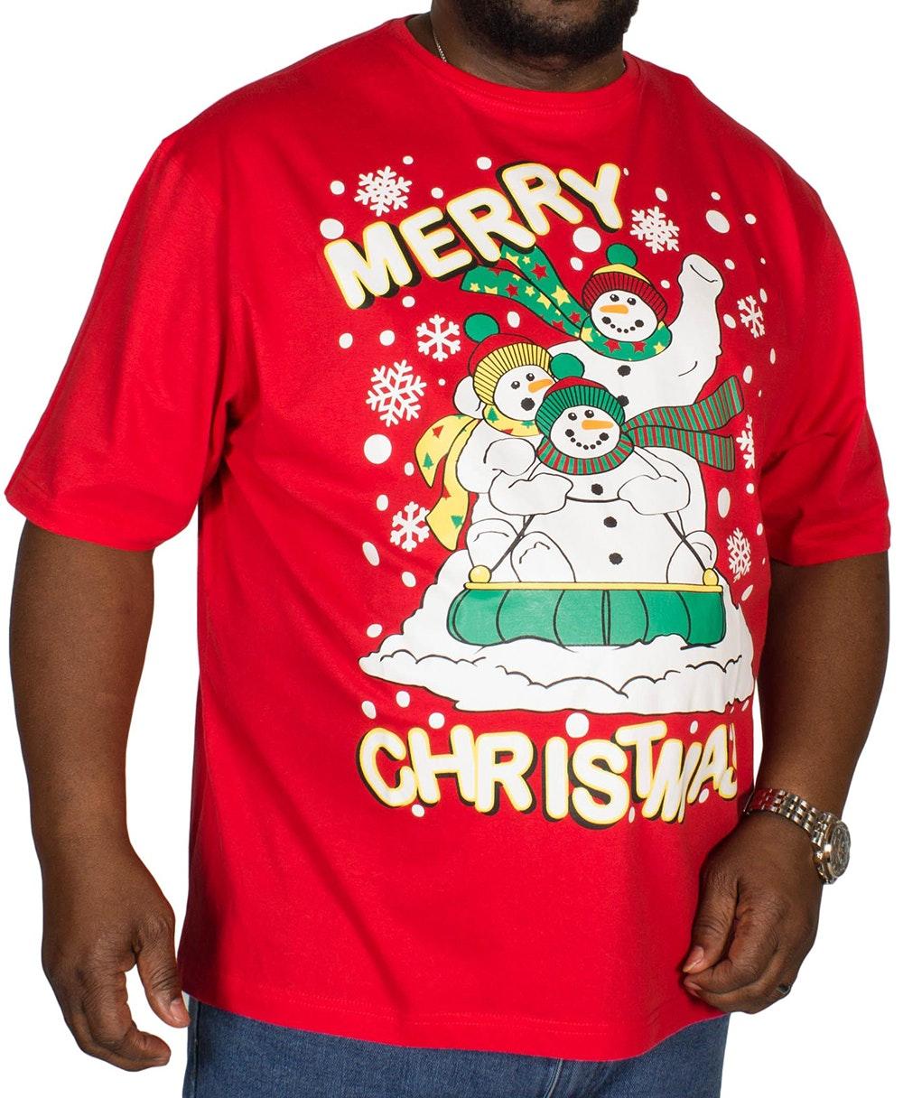 Pierre Roche Merry Christmas Print T-shirt Red