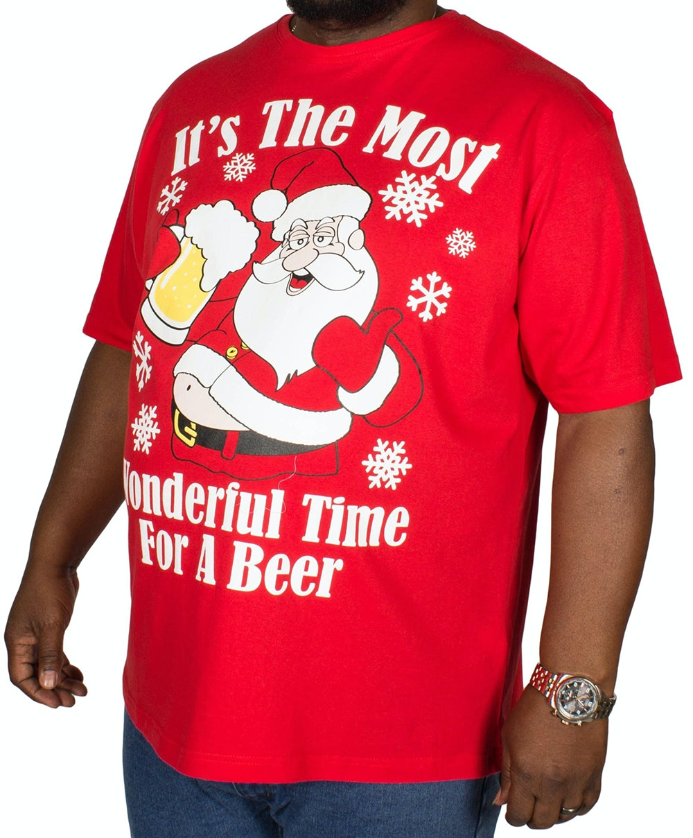 Pierre Roche Beer Christmas Print T-shirt Red