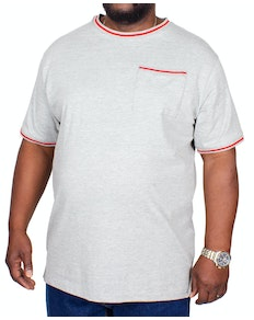 Bigdude Contrast Edge T-Shirt Grey
