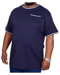 Bigdude Contrast Edge T-Shirt Navy