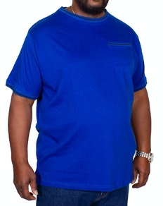 Bigdude Contrast Edge T-Shirt Royal Blue
