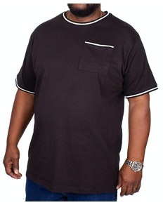 Bigdude Contrast Edge T-Shirt Black