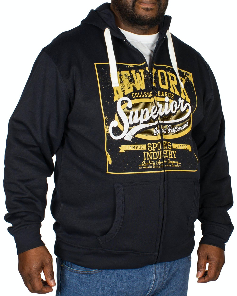 Espionage New York Print Hoody Navy