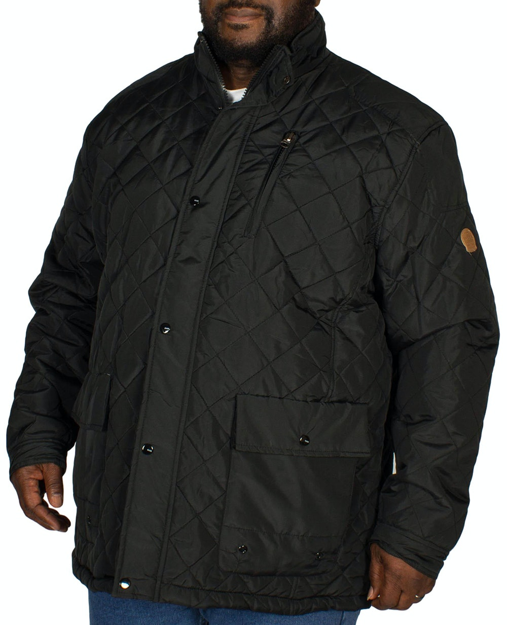 D555 Justin Quilted Jacket Black Tall