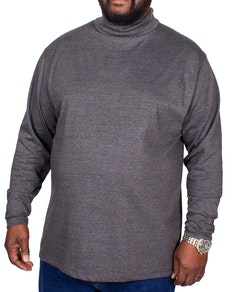 Bigdude Roll Neck Top Charcoal