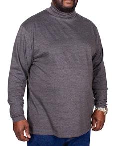 Bigdude Roll Neck Top Charcoal