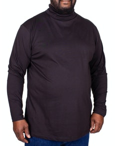 Bigdude Roll Neck Top Black
