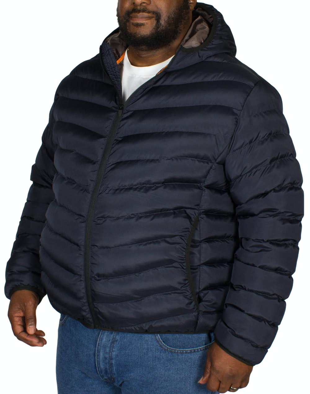 Bigdude Quilted Zip Through Jacket Navy