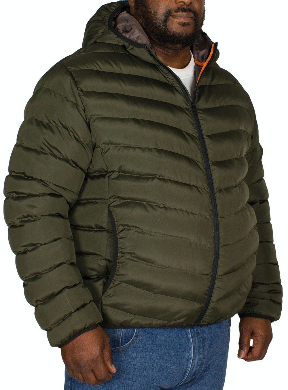 Bigdude Quilted Zip Through Jacket Khaki