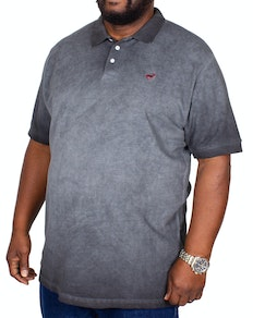Bigdude Acid wash Polo Shirt Black