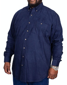 Espionage Needlecord Long Sleeve Shirt Navy