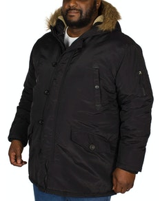 Bigdude Parka Coat Black