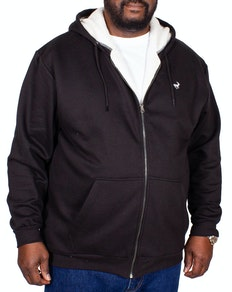 Bigdude Sherpa Lined Zip Hoody Black Tall