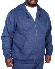 Bigdude Marl Full Zip Hoody Denim