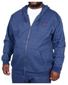 Bigdude Marl Full Zip Hoody Denim Tall