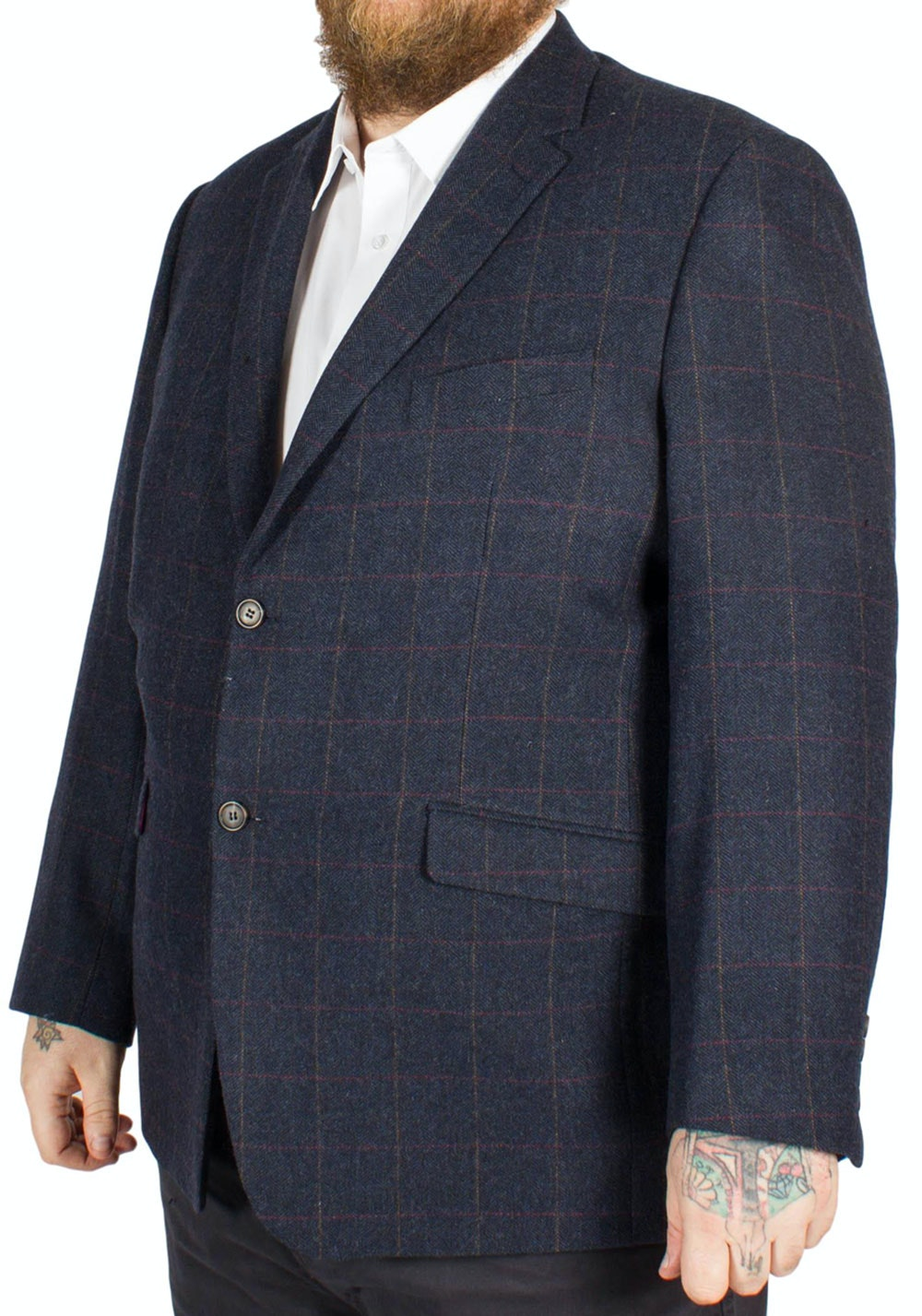 Skopes Swilken Jacket Navy Check