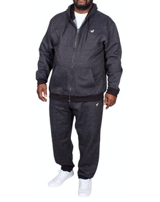 Bigdude Marl Tracksuit Black