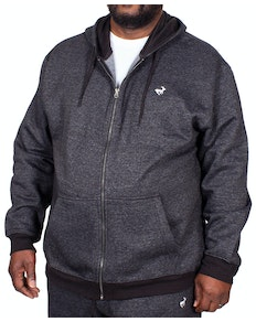 Bigdude Marl Full Zip Hoody Black