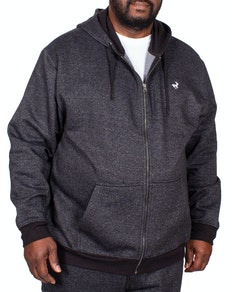 Bigdude Marl Full Zip Hoody Black Tall