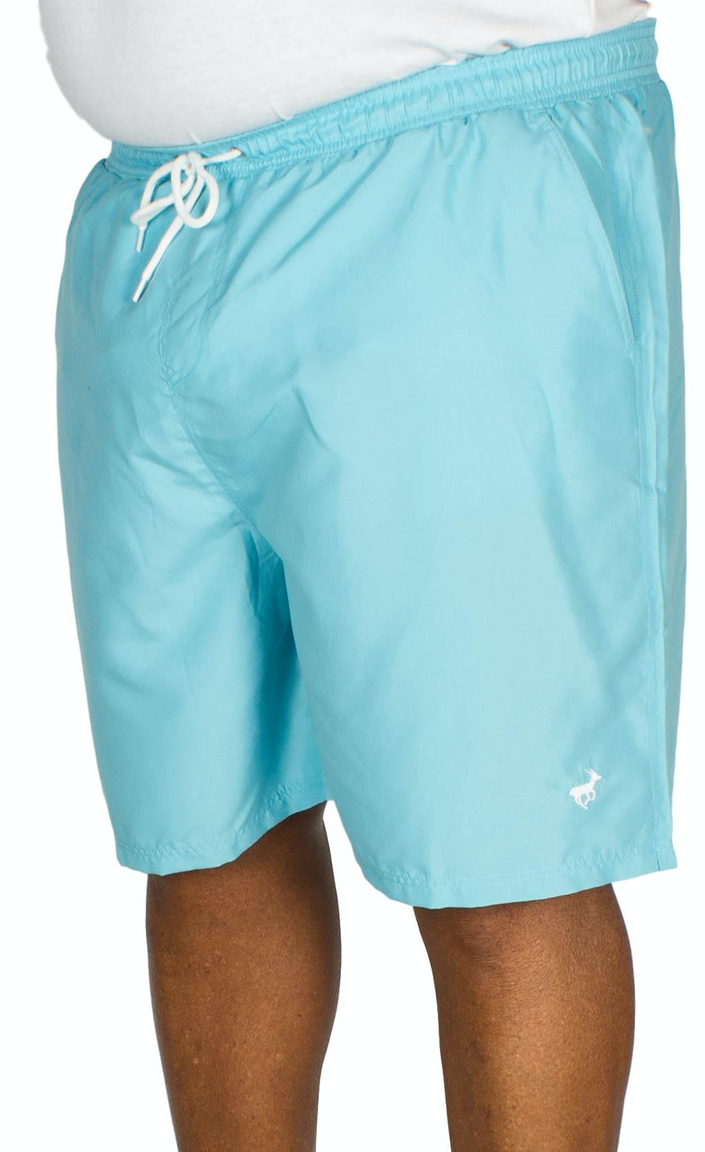Bigdude Plain Swim Shorts Light Blue