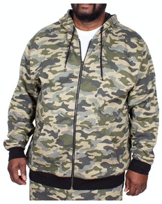 Bigdude Camouflage Full Zip Hoody Khaki