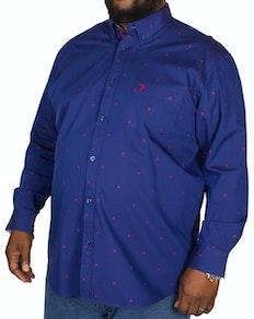 KAM Long Sleeve Dobby Shirt Blue