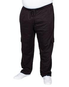 Bigdude Straight Leg Cargo Joggers Black