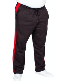 Bigdude Straight Leg Jogger With Stripe Black