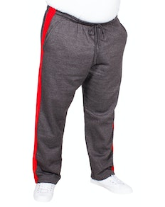 Bigdude Straight Leg Jogger With Stripe Charcoal