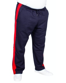 Bigdude Straight Leg Jogger With Stripe Navy