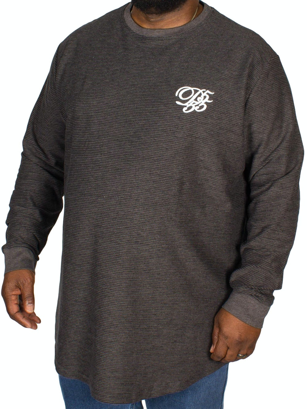 D555 Plato Long Sleeve T-Shirt Charcoal