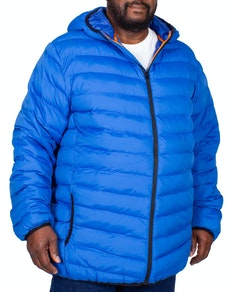 D555 Clark Padded Hooded Jacket Colbalt Blue