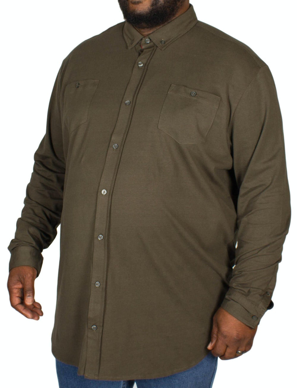 D555 Donnie Long Sleeve Jersey Shirt Khaki